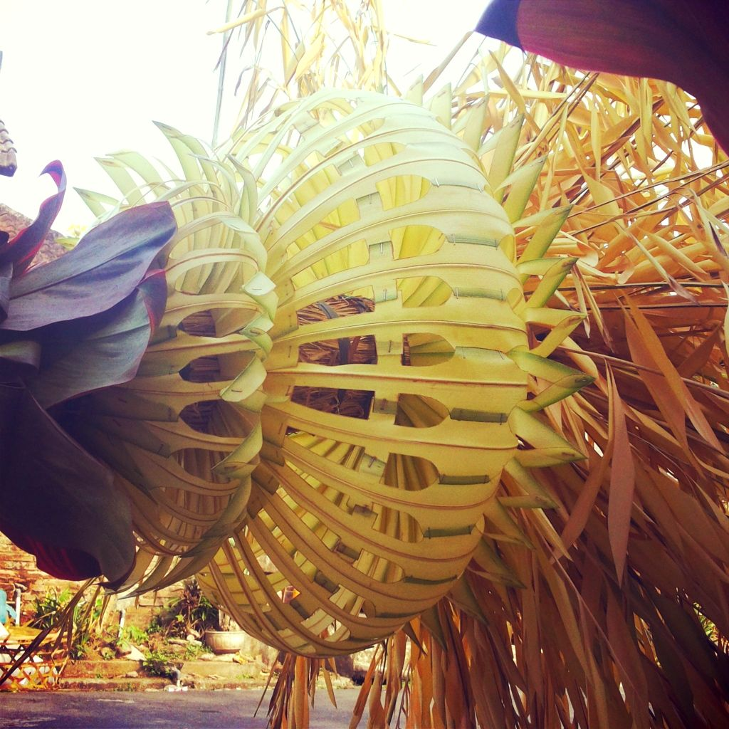 Indonesian Table Setting Janur Indonesia Wedding Decoration Made From Young Coconut