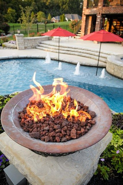 Fire Feature, Lava Rock Fire Pit Artistic Group Inc. St. Louis, MO - Fire Feature, Lava Rock Fire Pit Artistic Group Inc. St. Louis, MO