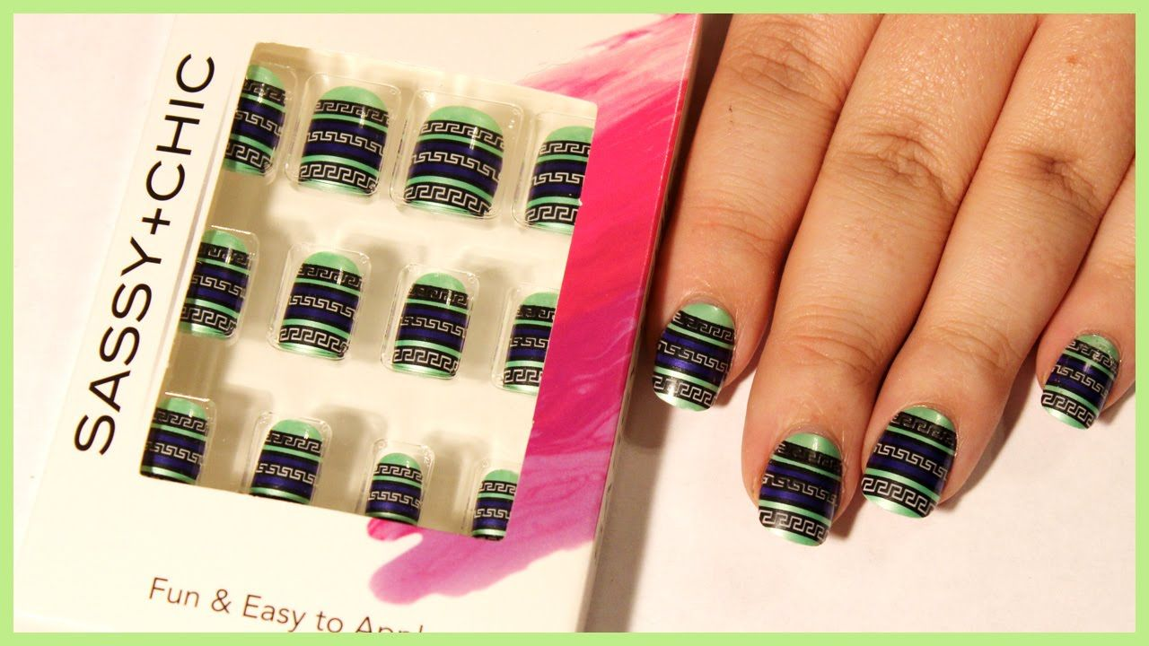 Dollar Tree Fake Nail Review   Beauty and Lifestyle Videos by Teph ...