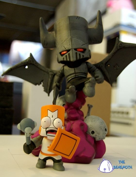 Castle Crashers Necromancer Figurine By The Behemoth Kickstarter Castle Crashers Castle Necromancer