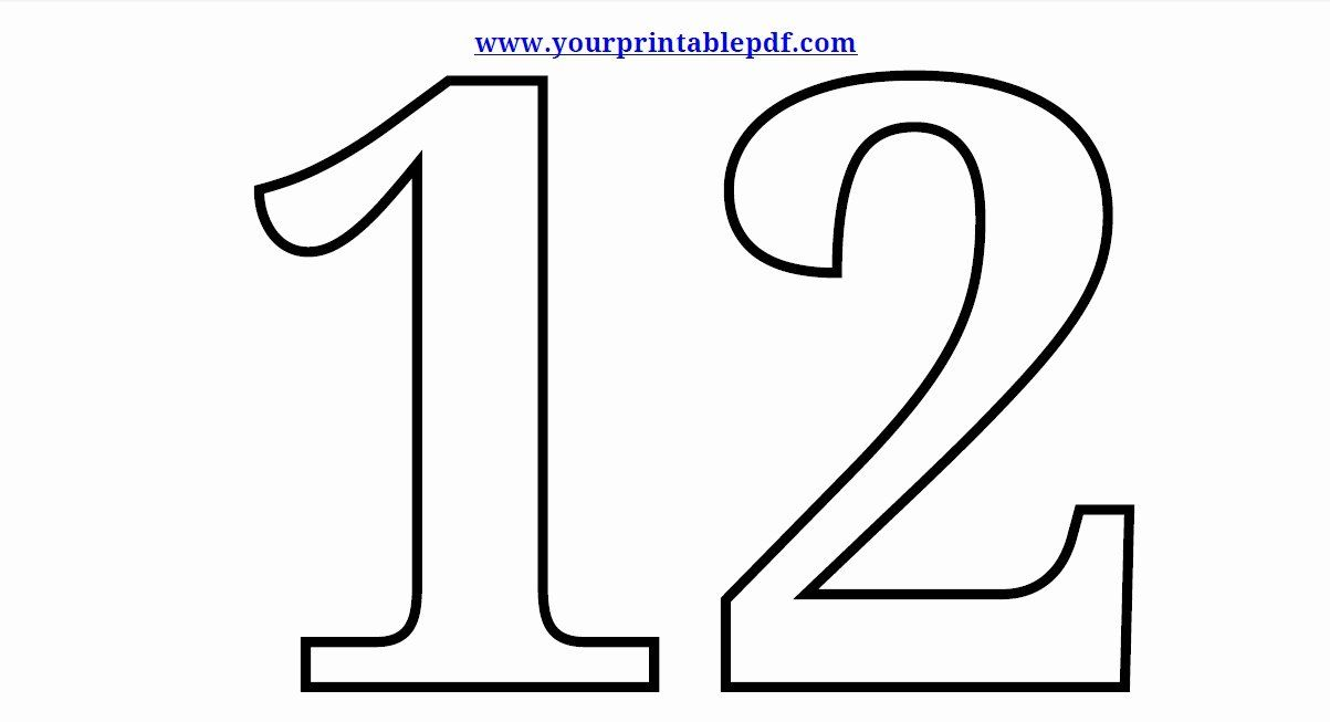 Number 12 Coloring Pages Lovely The Number 12 Cliparts Free Coloring Pages Coloring Pages Coloring Pages For Kids