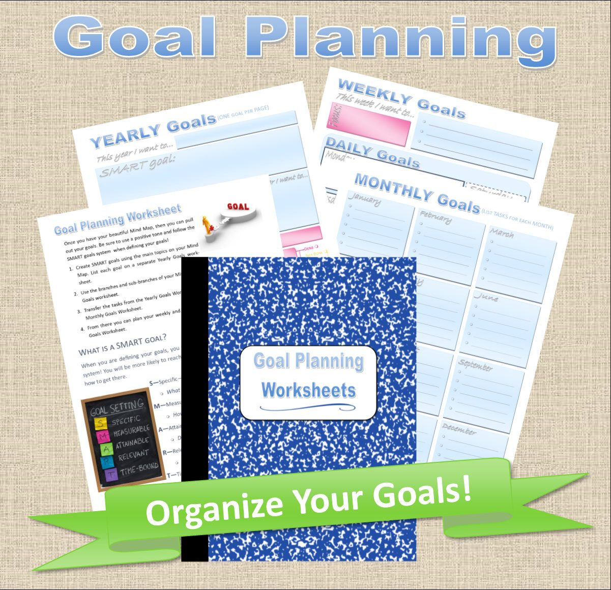 Printable Goal Planner Worksheets Pages