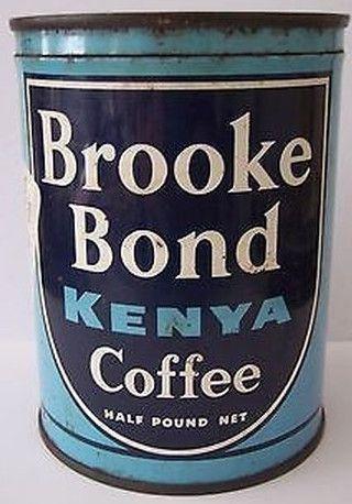 Brooke Bond Kenya Coffee | Vintage Coffee Cans/Jars