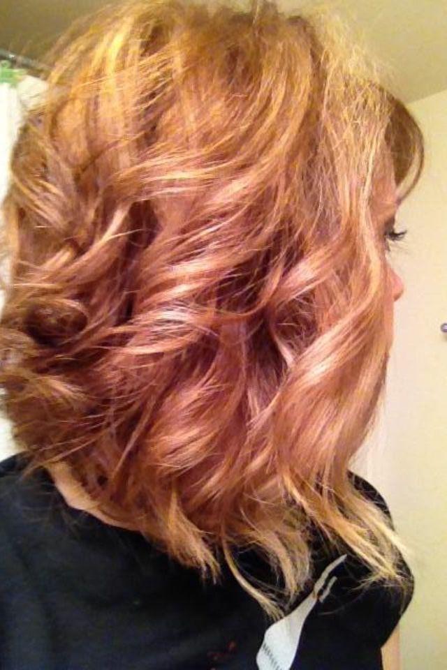 Copper lowlights blonde highlights curly swing bob hair by copper lowlights blonde highlights curly swing bob hair by stylist audra tucker cherrin pmusecretfo Gallery