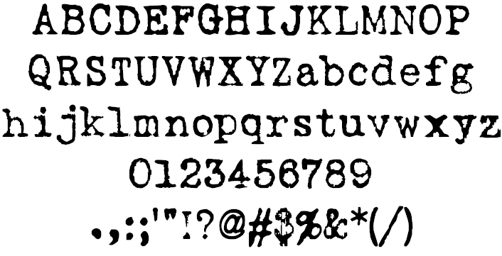Love the idea of typewriter fonts for certain areas of the website love the idea of typewriter fonts for certain areas of the website business cards etc reheart Gallery
