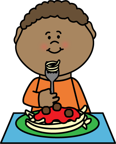FREE - boy eating spaghetti by My Cute Graphics ...