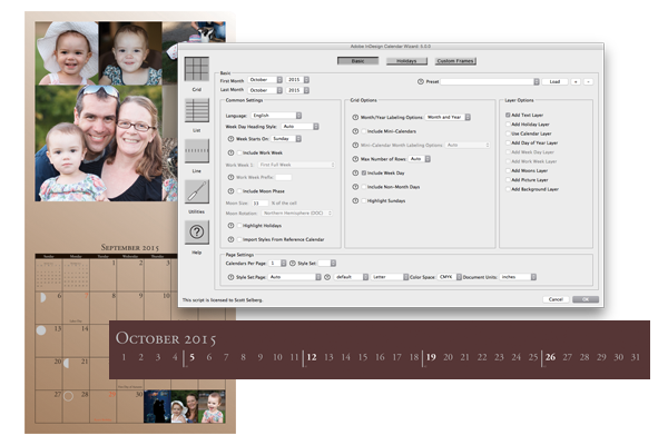 Indesign Calendar Wizard Indesign Pinterest Adobe Indesign