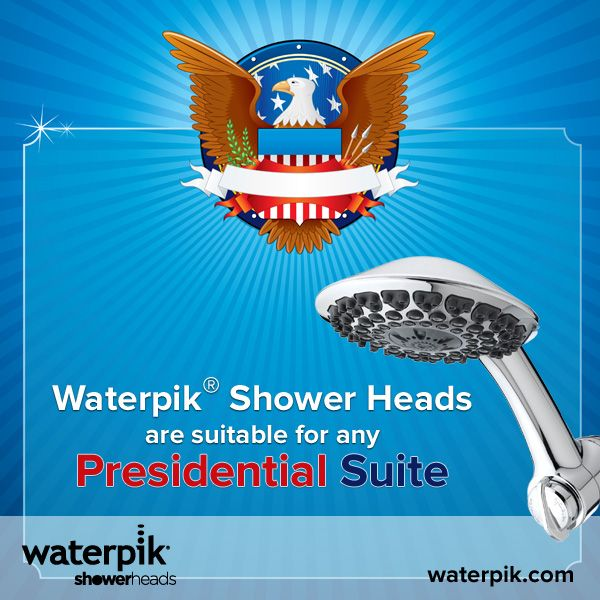 Upgrade your Master Suite today and get a ten dollar rebate towards the purchase of any Waterpik® Shower Head. Happy Presidents Day!