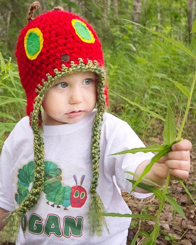 A Very Hungry Caterpillar Hat Newborn to by OverTheMoonHatDesign, $25.00