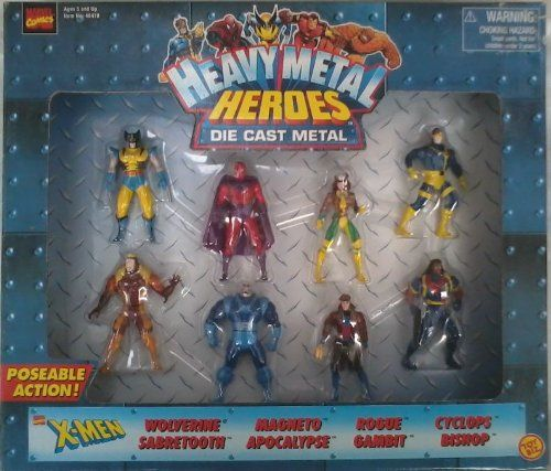 Heavy Metal Heroes Marvel XMen Die Cast Metal 8Pack ** Find out more about the great product at the image link.Note:It is affiliate link to Amazon.