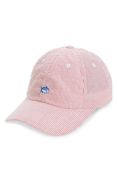 3be3084f56bde Southern Tide Embroidered Seersucker Baseball Cap