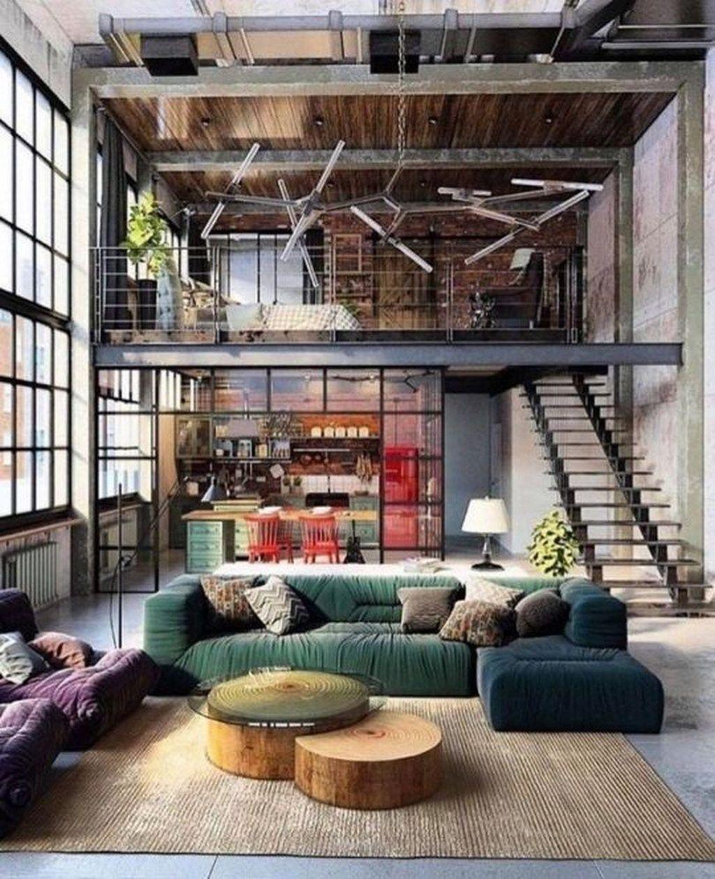 32 Stunning Loft Apartment Decorating Ideas You Should Try In 2020 Loft Apartment Decorating Loft Design Industrial Interior Design