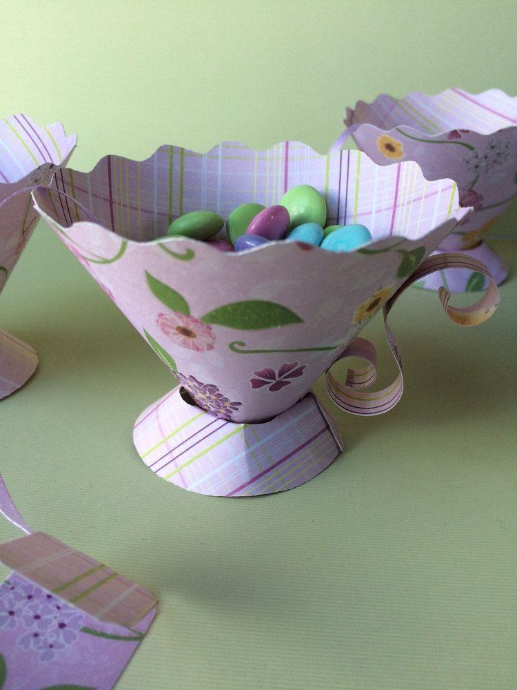 Favorece a tazas de té de papel fiesta de por MossflowerAbbey
