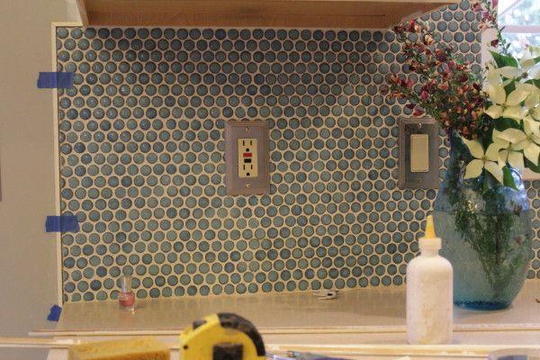Penny Tile Trim Penny Tile Backsplash Penny Tile Colorful Backsplash