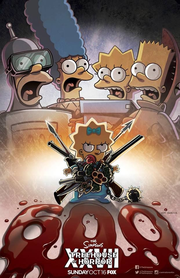 Bildergebnis Für Enemy Mine Simpsons Poster Simpsons Treehouse Of Horror Maggie Simpson The Simpsons