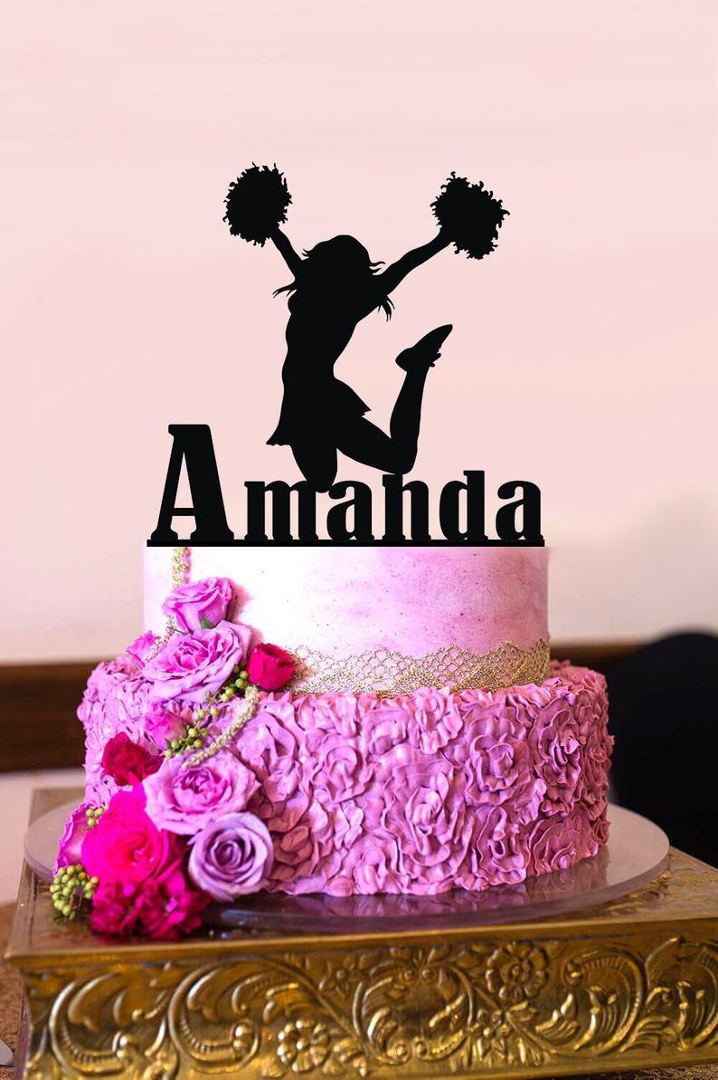 Cheerleader Cake Topper Cheerleader Birthday Cake Topper