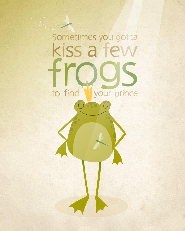 The Frog prince, teen art print, tween illustration, tween room ...