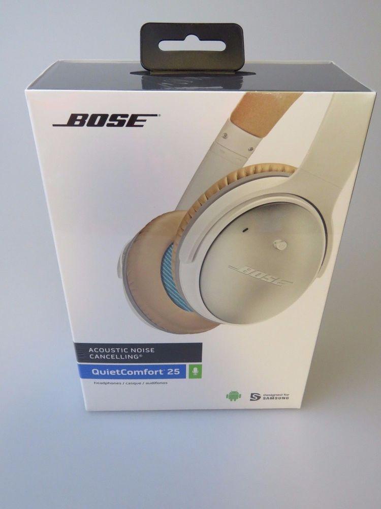 Bose Quietcomfort 25 White Qc25 Acoustic Noise Cancelling Over Ears Headphones Bose Ebay Headphones Bose