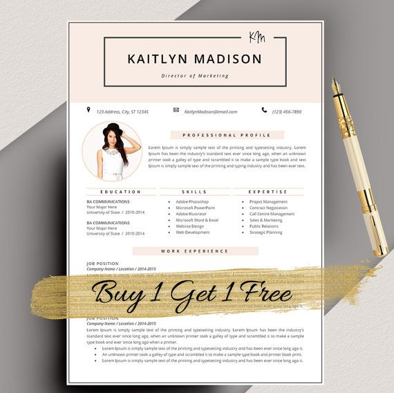 Resume Template Cv Template For Ms Word Creative Resume Modern