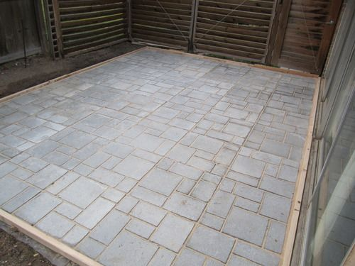 Quikrete Walk Maker This Mold Makes Excellent Patios, Walkways And Paths.  The Finished Patio Pictured Is In Size And Took 48 Times Filling The Molds.