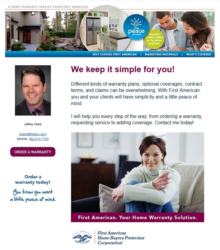 With A First American Home Warranty You And Your Clients Will