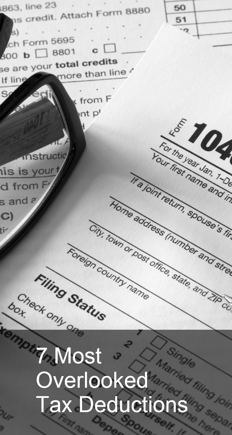 Discover the 7 most overlooked tax deductions such as ...