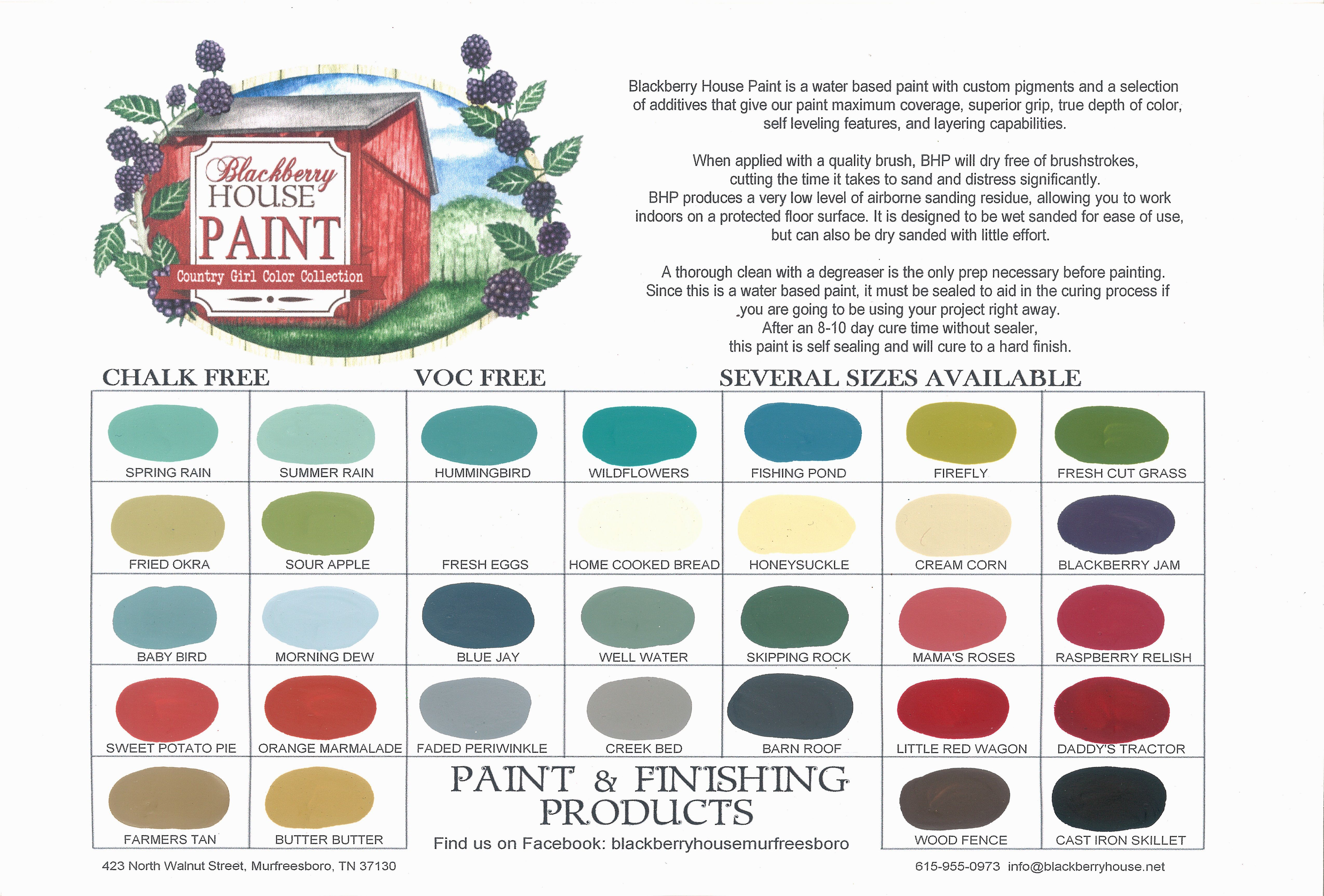 Blackberry House Paint Color Chart 32 Colors 4 Sizes Http Www