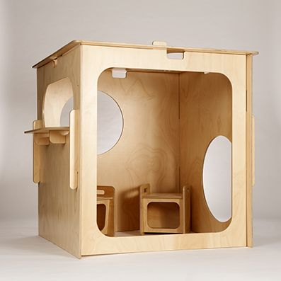 Plywood PlayCube by Little Green Room