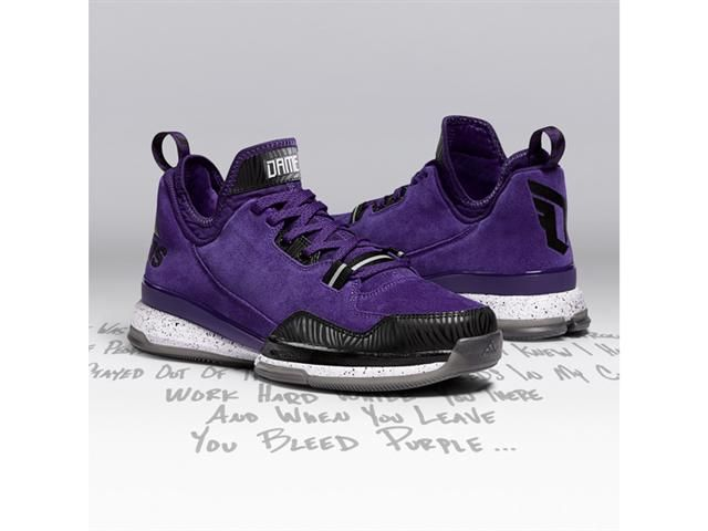This Amazon Purple and Black colorway of the adidas D Lillard 1 will be  releasing on