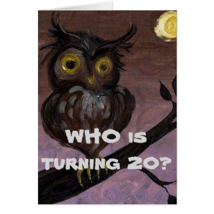 Happy 20th Birthday Card Happy 20th Birthday