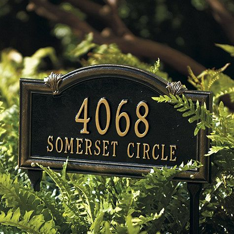 Somerset Arch Lawn Signs