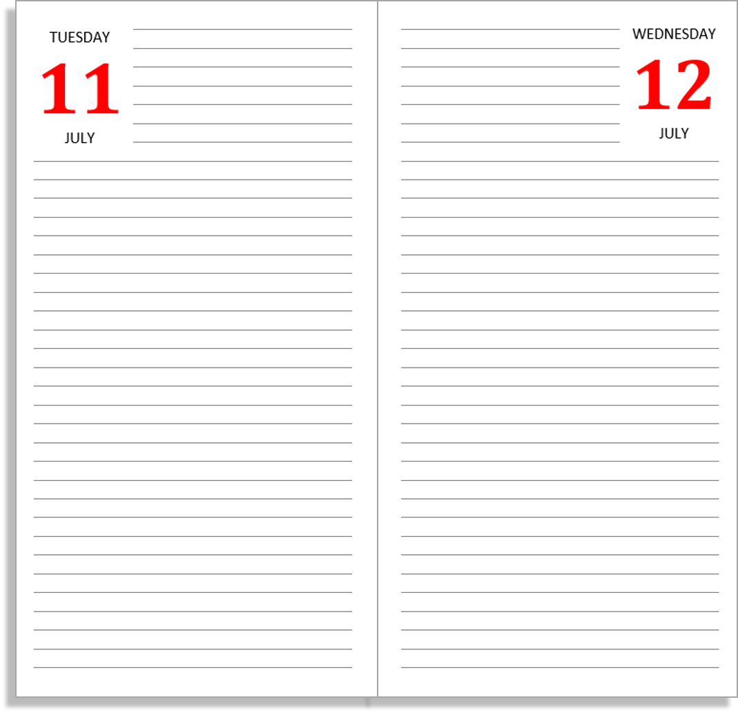 Awesome My Life All In One Place: Free Midori Diary Inserts For Part 2   Full Size  Daily Layouts With Daily Diary Template