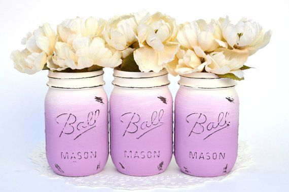 Mason Jars Bulk Ombre Mason Jars Purple Mason Jars Mason Jar Decor Dorm Decor College Decor Painted Mason Jars Wedding Centerpiece Mason Jars Bulk Ombre Mason Jars Purple...