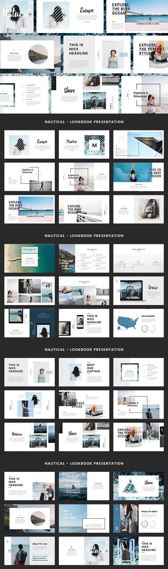 Nautical - Keynote Template   Editorial, Diseño editorial y Portafolio