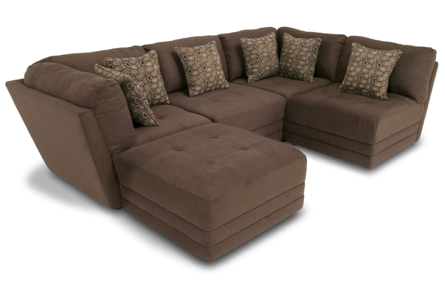 A sectional you can rearrange a bunch of different ways good for