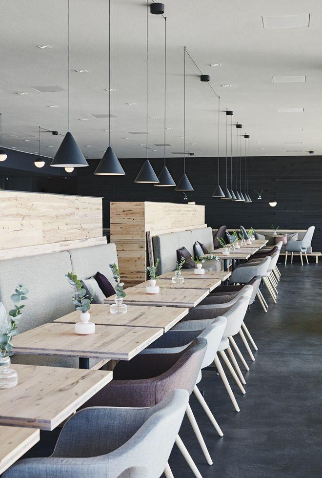 Finnish Interior Design the public sauna and restaurant löyly in helsinki finland