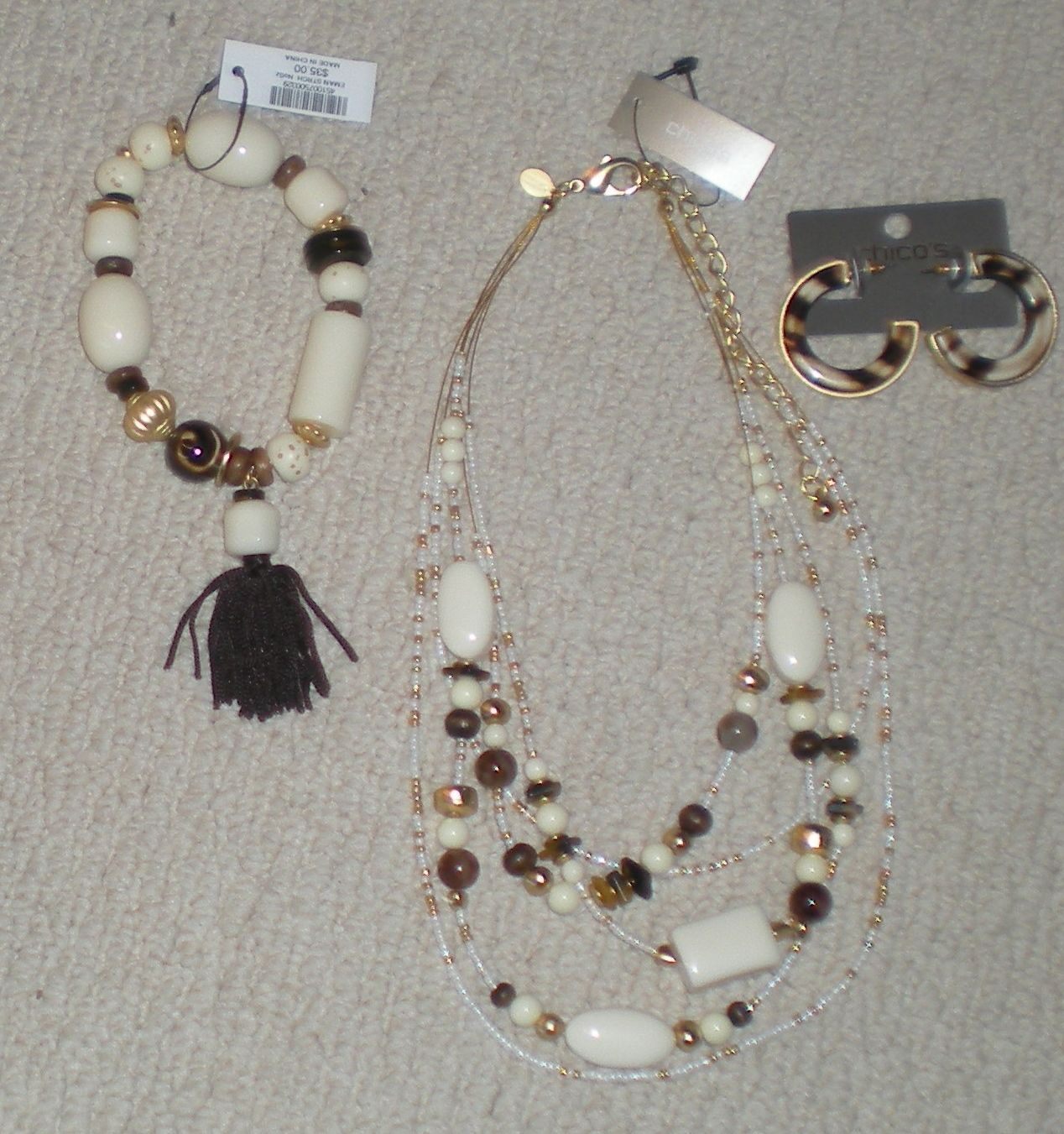 Jewelry Sets 50692: Chicos Eman Necklace Bracelet And Earrings Set Nwt 105.00 -> BUY IT NOW ONLY: $42.99 on eBay!