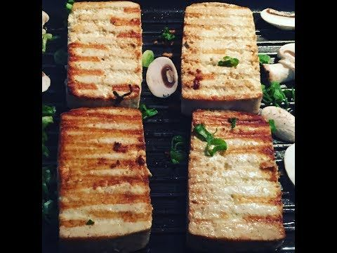 Delicious simple grilled tofu.