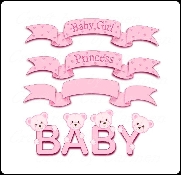 Banners clip art, baby clip art, baby banners, baby, baby ...