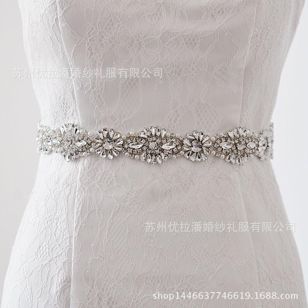 Pearl belt for wedding dress  Women us Elegant Luxury Wedding Sash Belt Crystal Pearl Beading