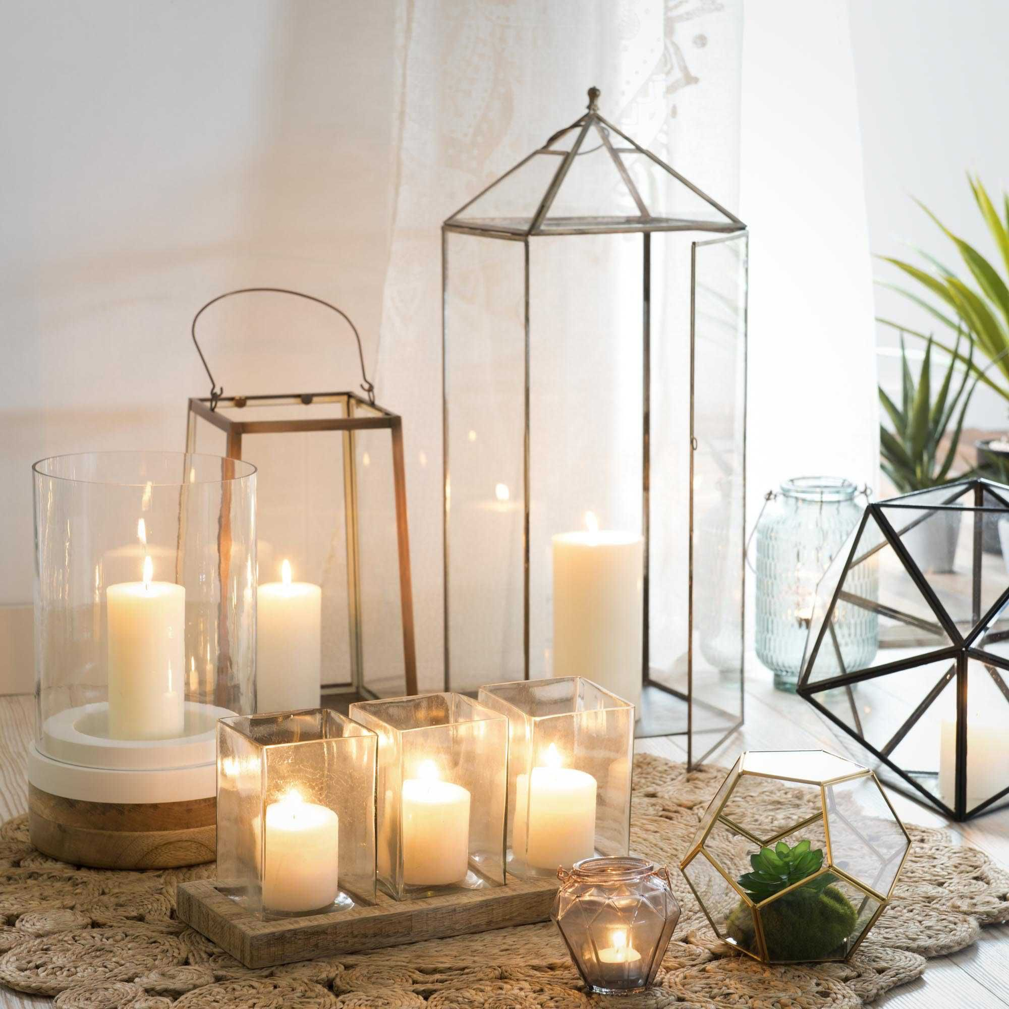 3 bougeoirs en verre support bois 18 x 39 cm helsinki maisons du monde stuff to buy. Black Bedroom Furniture Sets. Home Design Ideas