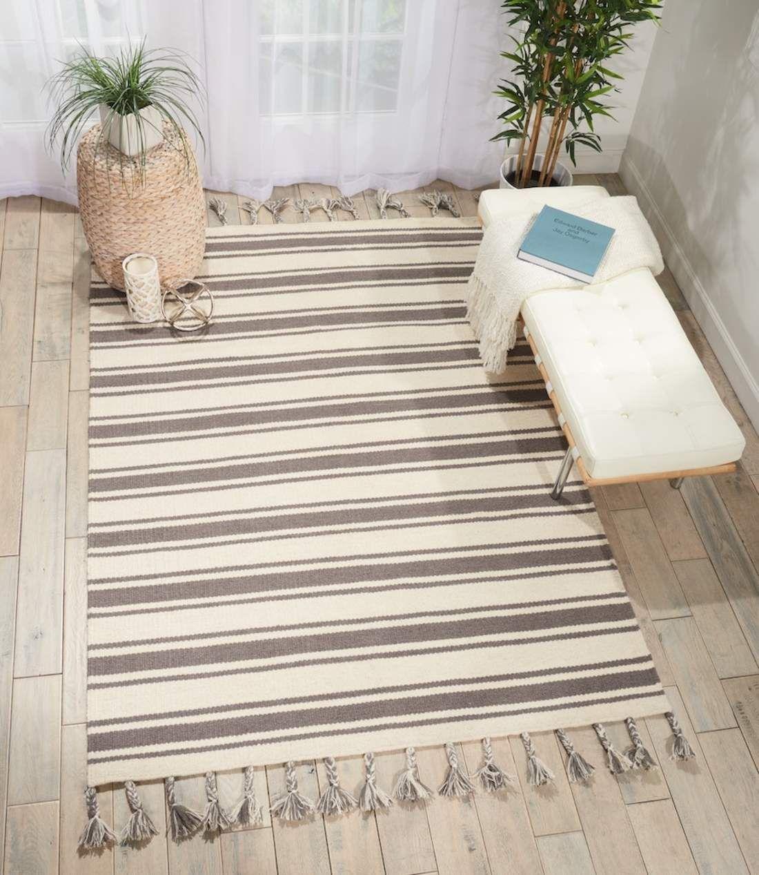 Nourison Rio Vista Ivory Grey carpet • Online Carpets