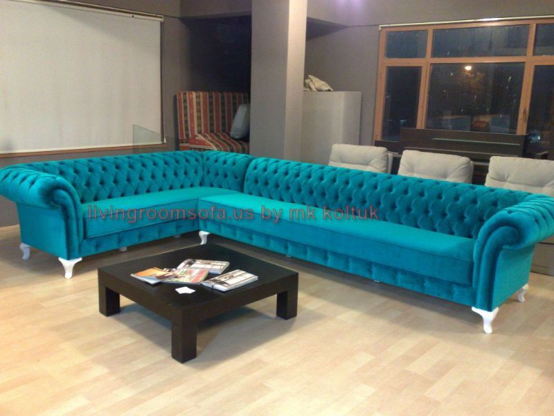 Turquoise Sofa | Style Corner Sofa Purple Modern, LIVING ROOM SOFA, Living  Room Sofas