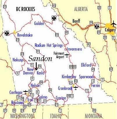 The Old Ghost Town of Sandon, BC  Take the highway between Kaslo and