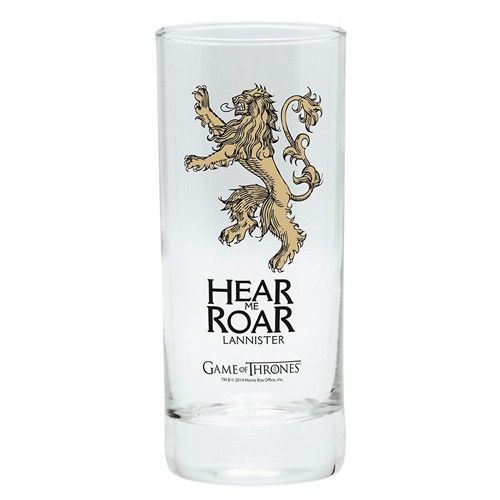 Verre Game of Thrones Lannister devise et logo