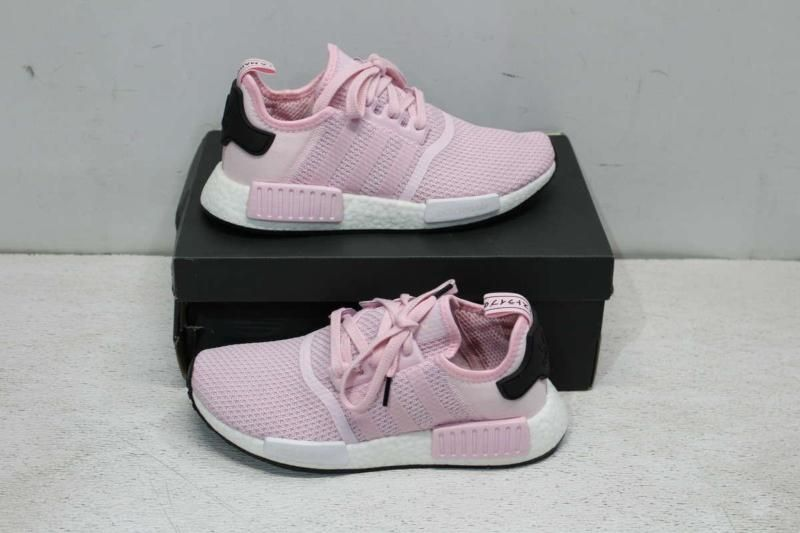 d2690e50fbc16 Adidas Women s 7.5 NMD R1 Sneaker Clear Pink Cloud White Core Black B37648