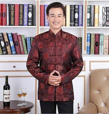 Handsome-Chinese-mens-silk-clothing-jacket-coat-Cheongsam-SZ-M-L-XL-XXL-XXXL