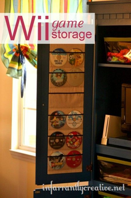 Lovely 50 Clever DIY Storage Ideas To Organize Kidsu0027 Rooms. Video Game ...
