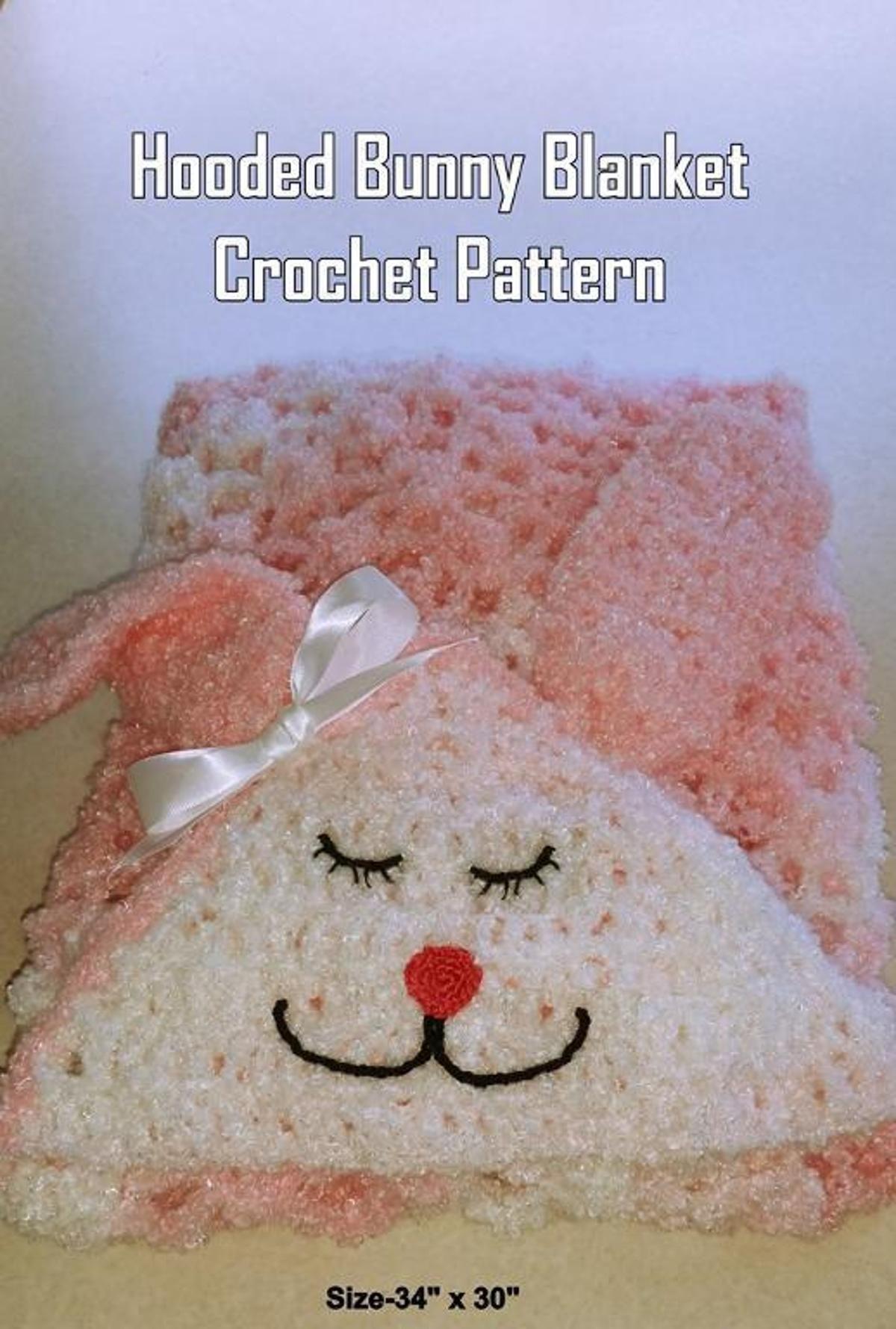 Hooded Bunny Blanket Crochet Pattern   Craftsy