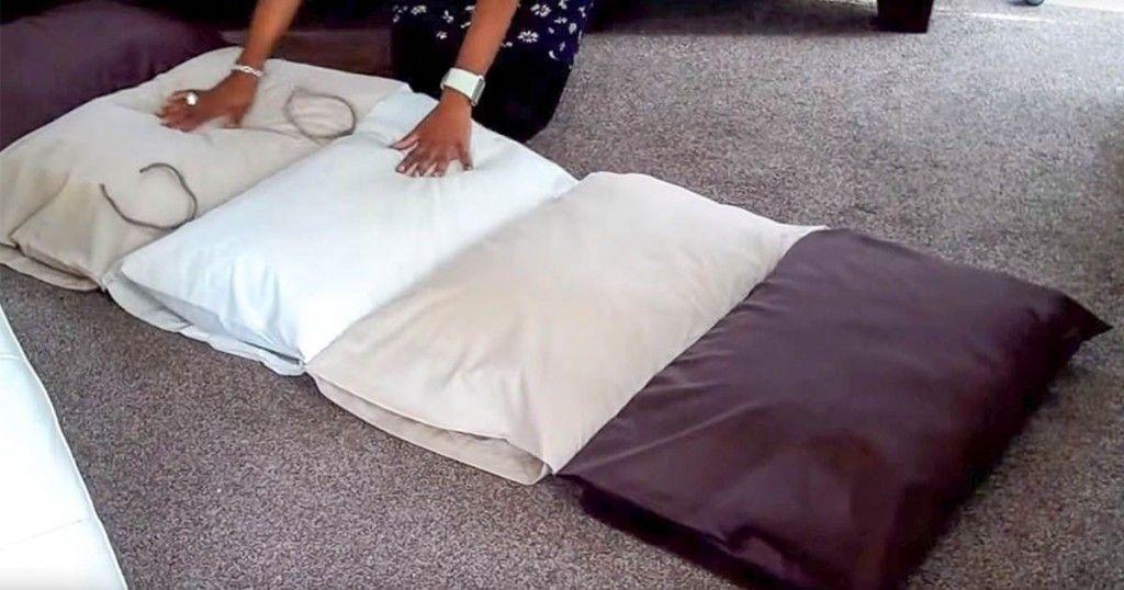 comment fabriquer un coussin de sol avec des oreillers fabriquer des coussins matelas de sol